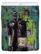 Three Bottles Of Wine Duvet Cover
