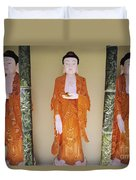 Three Buddha Statues Duvet Cover