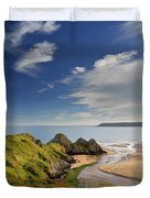 Three Cliffs Bay 4 Duvet Cover