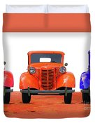Three Colored Cars Duvet Cover