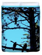 Three Crows In A Tree Duvet Cover
