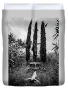 Three Cypresses Duvet Cover