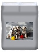 Three Dalmatian Puppies  Duvet Cover