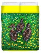 Three Ducklings Duvet Cover