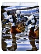 Three Ducks  Duvet Cover