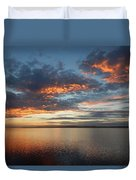 Three Fiery Clouds Duvet Cover