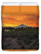 Mount Jefferson At Sunset Duvet Cover