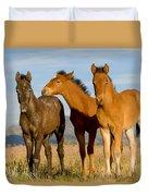 Three Foals Duvet Cover