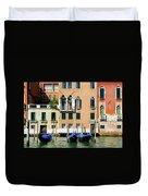 Three Gondolas Duvet Cover
