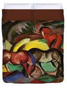 Three Horses 1912 Duvet Cover
