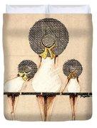 Three Ladies On A Dock  Duvet Cover
