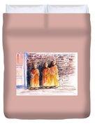 Three Little Monks Duvet Cover