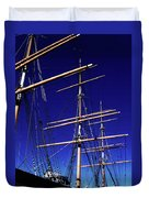 Three Mast Sailing Rig Duvet Cover