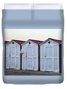 Three Modello Beach Cabanas Duvet Cover