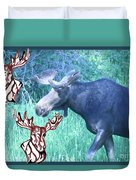 Three Moose Duvet Cover