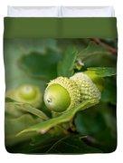 Three Oak Acorns Duvet Cover