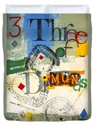 Three Of Diamonds 31-52 Duvet Cover