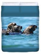 Three Otters Duvet Cover
