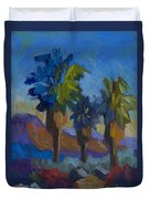 Three Palms At Palm Desert Duvet Cover