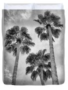 Three Palms Bw Palm Springs Duvet Cover