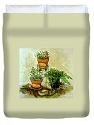 Three Potted Plants Duvet Cover