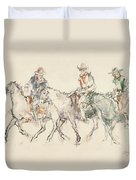 Three Riders Duvet Cover