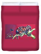 Three Robins Duvet Cover