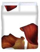Three Rust Calla Lilies Duvet Cover