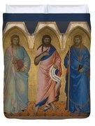 Three Saints Duvet Cover
