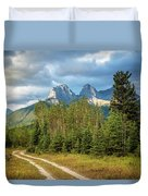 Three Sisters And A Dirt Road Duvet Cover