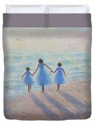 Three Sisters Beach Duvet Cover