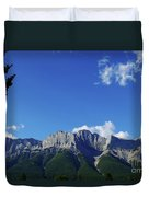 Three Sisters Ridges Canmore Alberta Gateway To Banff National Park Duvet Cover
