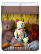 Three Special Bears Duvet Cover