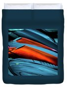 Three Sport Car Hoods Abstract Duvet Cover