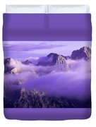 Three Summits. Julian Alps Duvet Cover