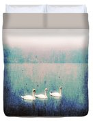 Three Swans Duvet Cover by Joana Kruse