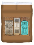 Three Taos Doors Duvet Cover