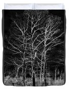 Three Trees In Black And White Duvet Cover