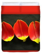 Three Tulip Petals Duvet Cover
