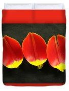 Three Tulip Petals Duvet Cover