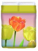 Three Tulips. Duvet Cover