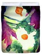 Three White Flowers Duvet Cover