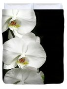 Three White Orchids Duvet Cover