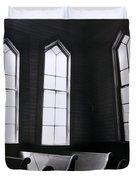 Three Window Church Duvet Cover