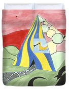 Three Wise Swans  Duvet Cover