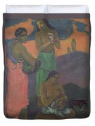 Three Women On The Seashore Duvet Cover by Paul Gauguin