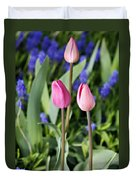 Three Young Tulips Duvet Cover