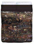 Threefin Blennie Like Fish On Log Duvet Cover