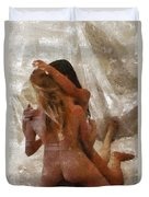 Threesome By Mary Bassett Duvet Cover