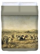 Threshing Wheat In Algeria Duvet Cover
